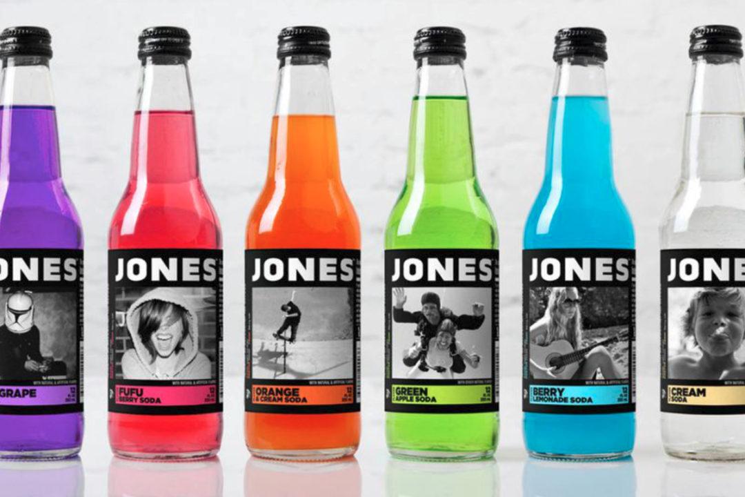 Jones Soda bottles