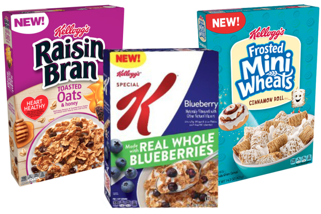 Kellogg's whole grain cereals