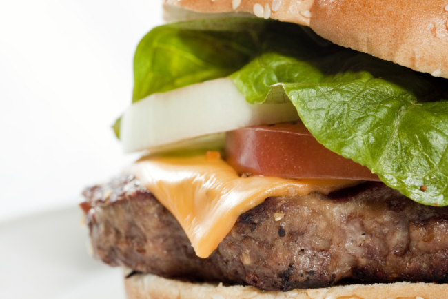 refrigerated plant-based burger patty