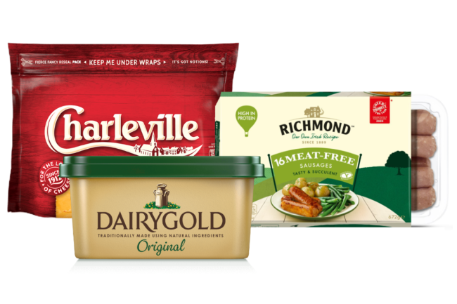 Richmond sausages, Dairygold spreads and Charleville cheese