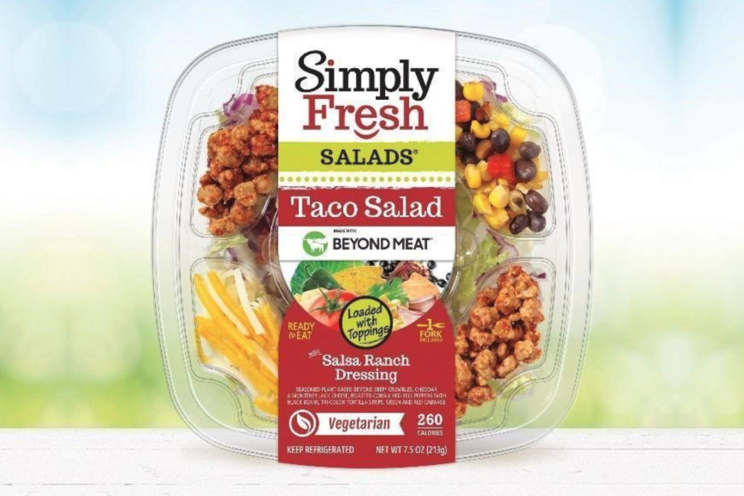 Simply Fresh Taco Salad made with Beyond Meat