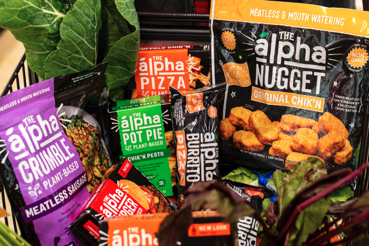 Alpha Farms plant-based frozen foods