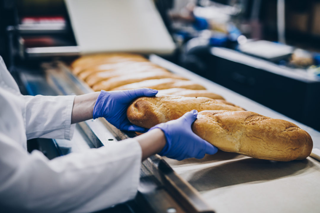 Industrial baking, bread production