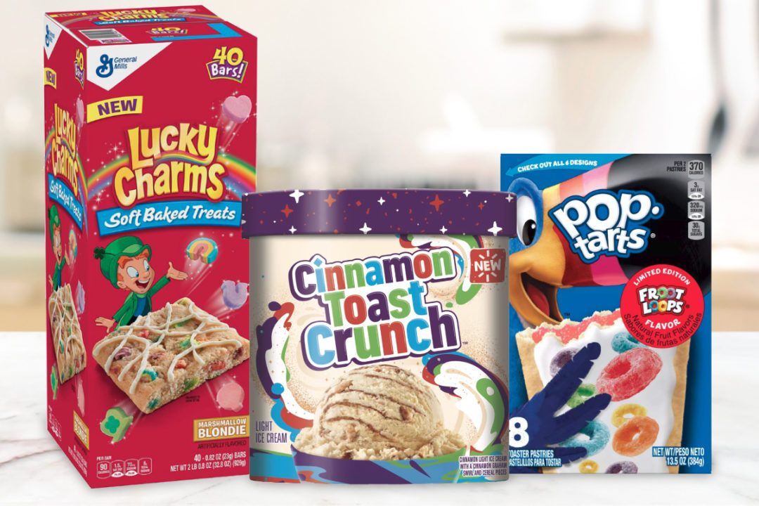 New cereal-flavored products