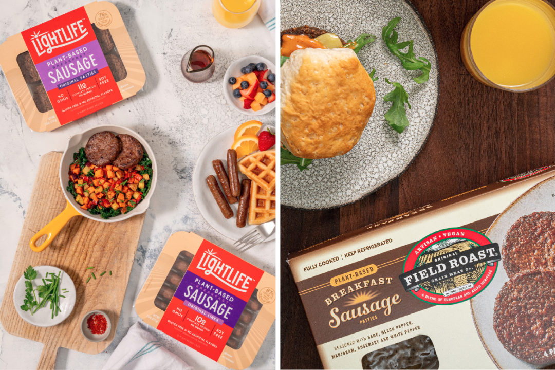 Lightlife and Field Roast plant-based breakfast sausages