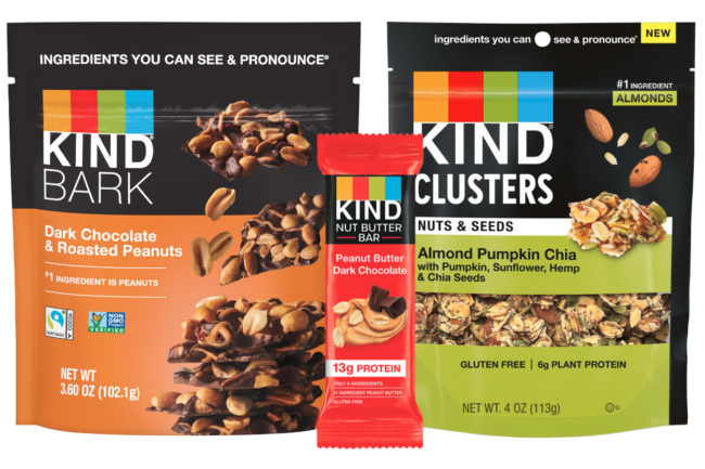 New Kind bark, refrigerated bars and snack mixes