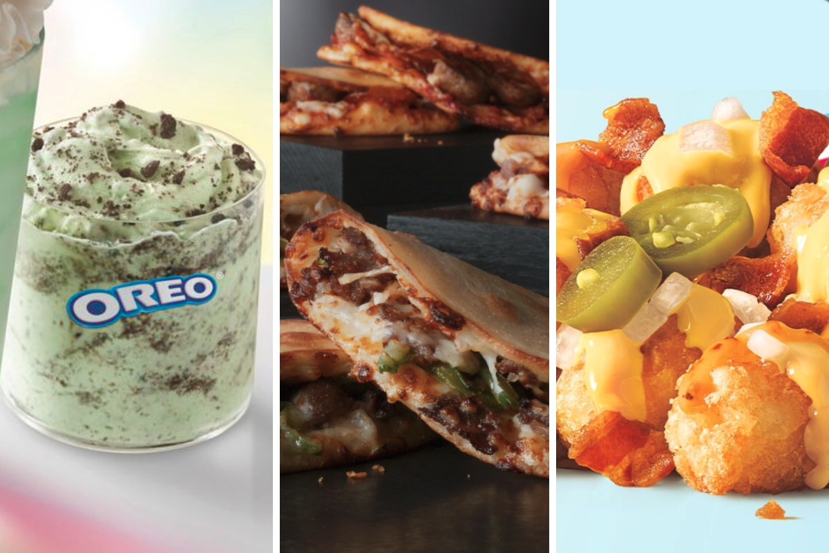 New menu items from McDonalds, Papa Johns, Sonic