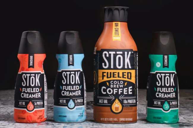 Stok Fueled cold-brew coffee and creamers