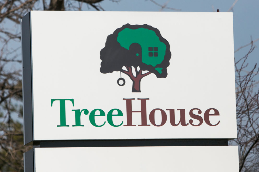 TreeHouse Foods sign