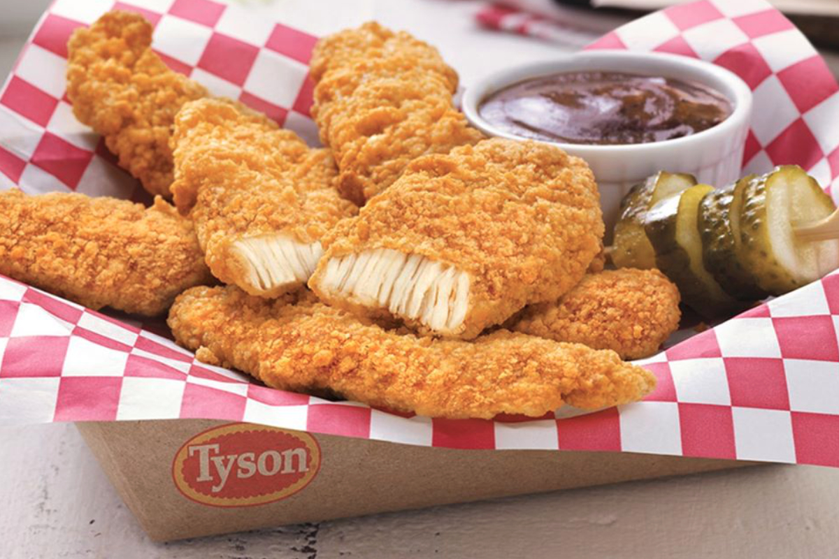 Tyson air-fried chicken strips
