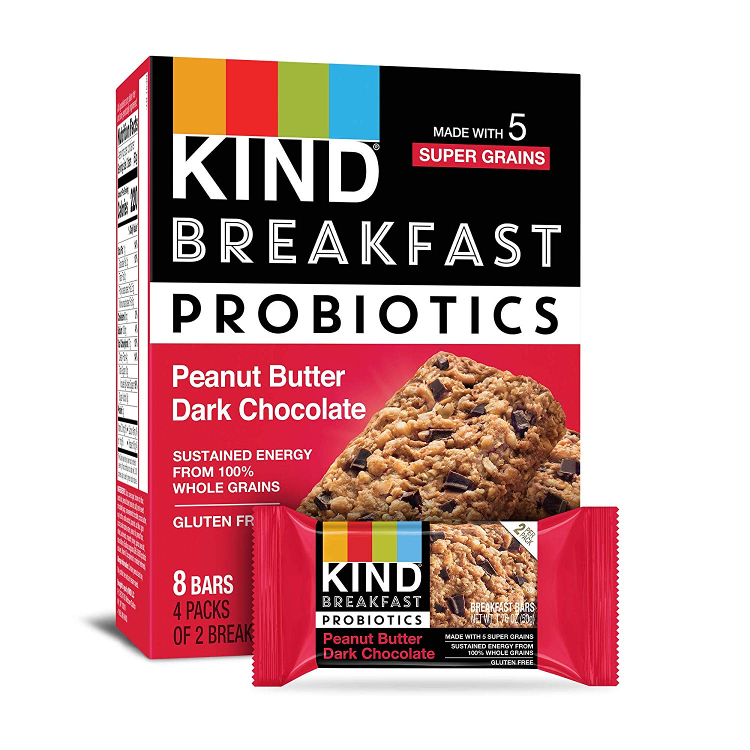 kind breakfast probiotic bar