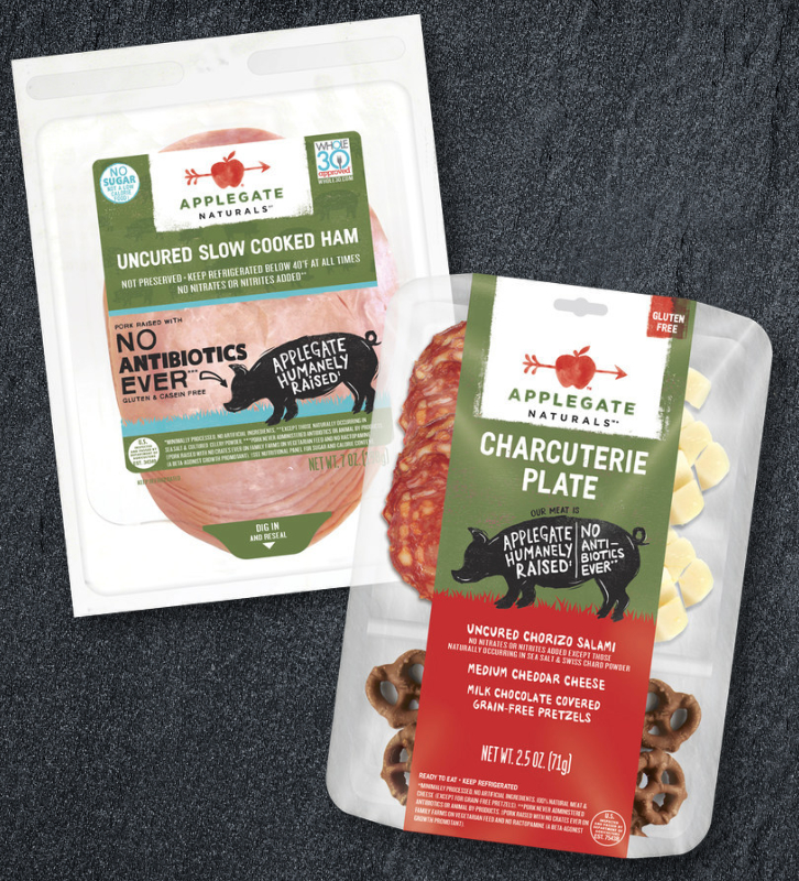 Applegate Naturals Slow Cooked Ham and Applegate Naturals Chorizo Charcuterie Plate
