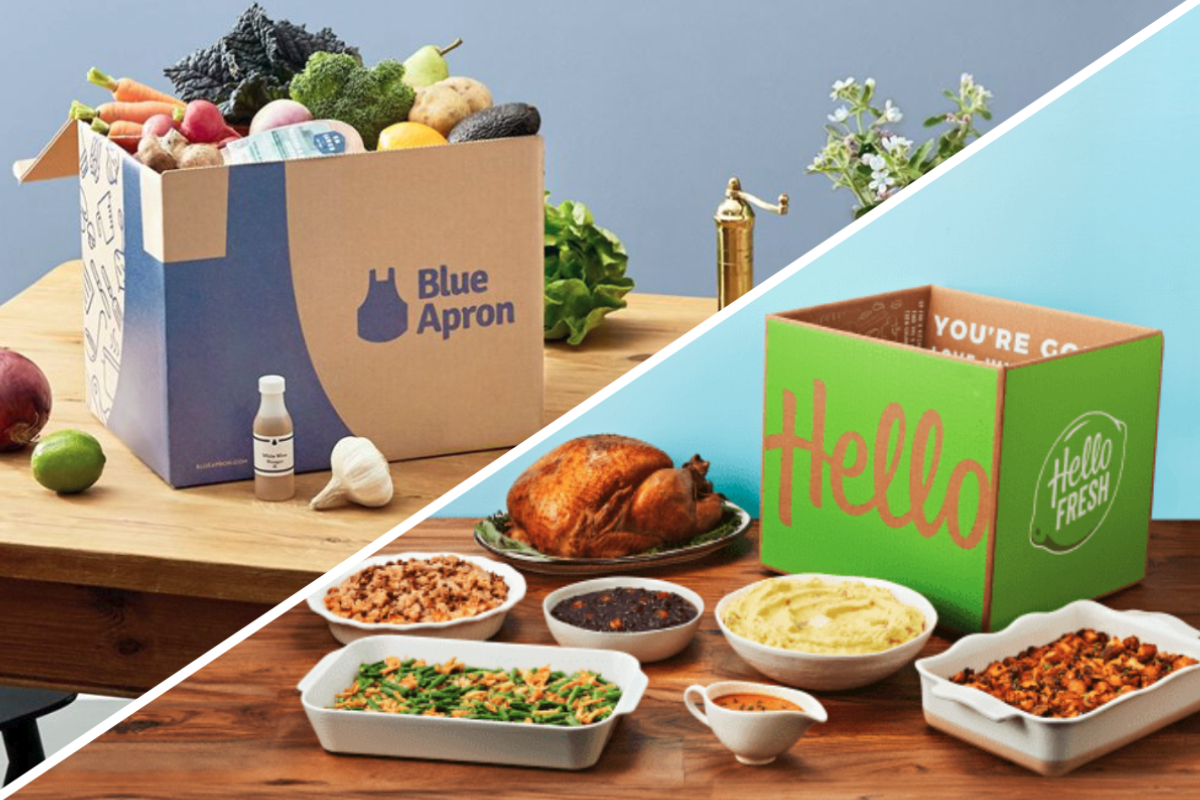 Blue Apron and HelloFresh meal kits