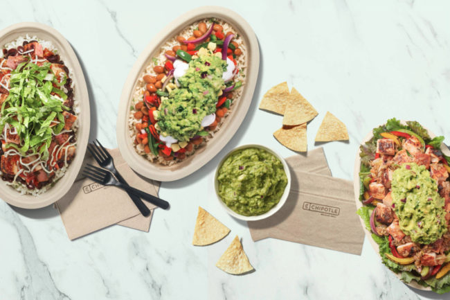 Chipotle delivery bowls