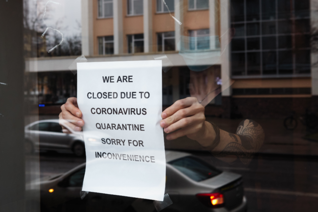 restaurants closed on-site dining due to coranavorus COVID-19 outbreak