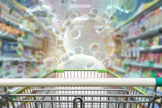 Coronavirus shopping cart