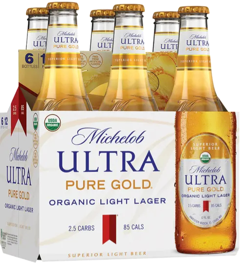 Michelob Ultra Pure Gold made with organic barley and rice