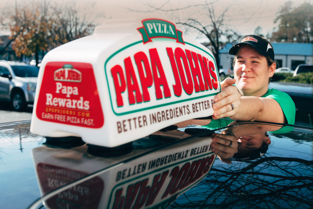 Papa John's delivery driver
