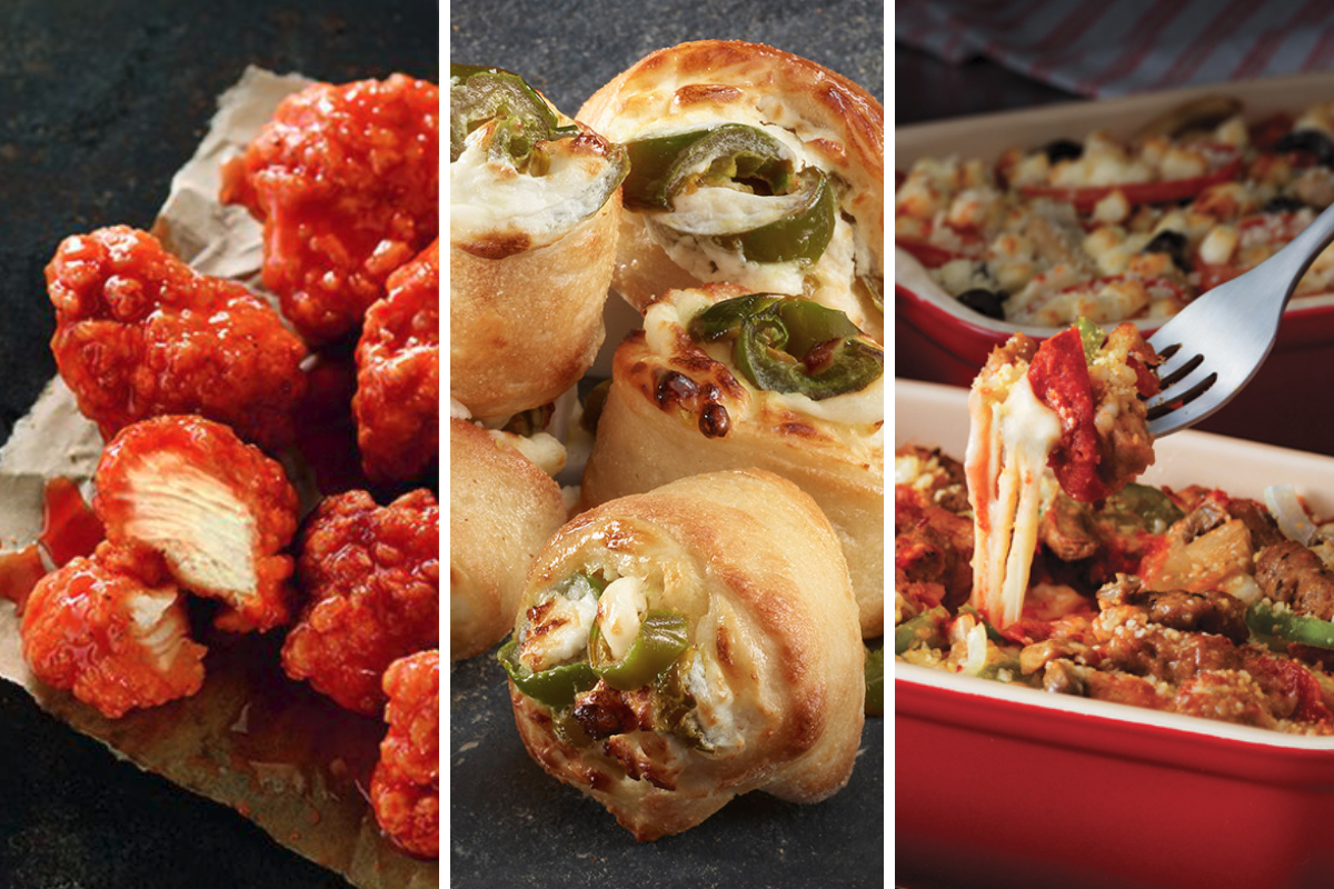 New menu items from Pizza Hut, Papa John's, Marco's Pizza