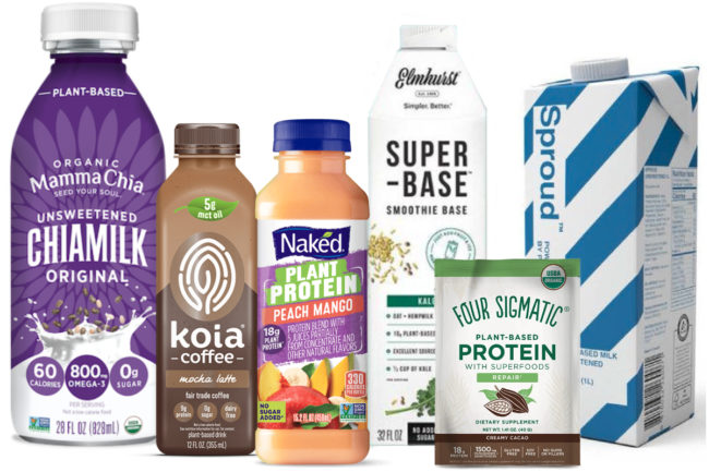 Plant protein beverages