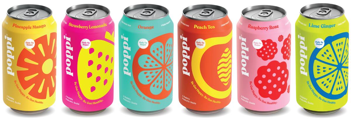 Poppi prebiotic sodas