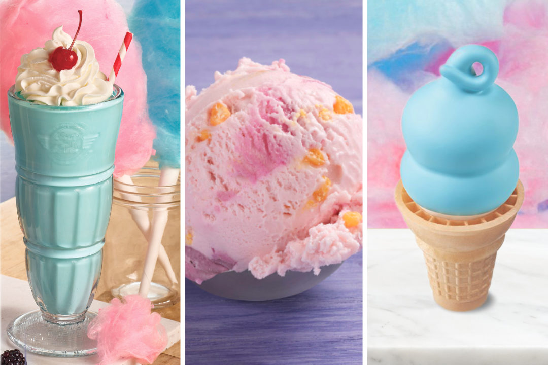 Cotton candy flavored new menu items from Steak n Shake, Baskin-Robbins and Dairy Queen