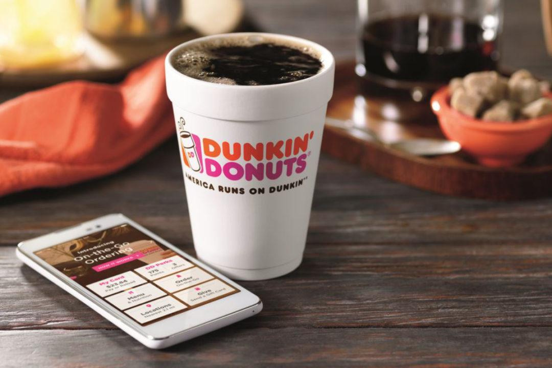 Dunkin mobile ordering