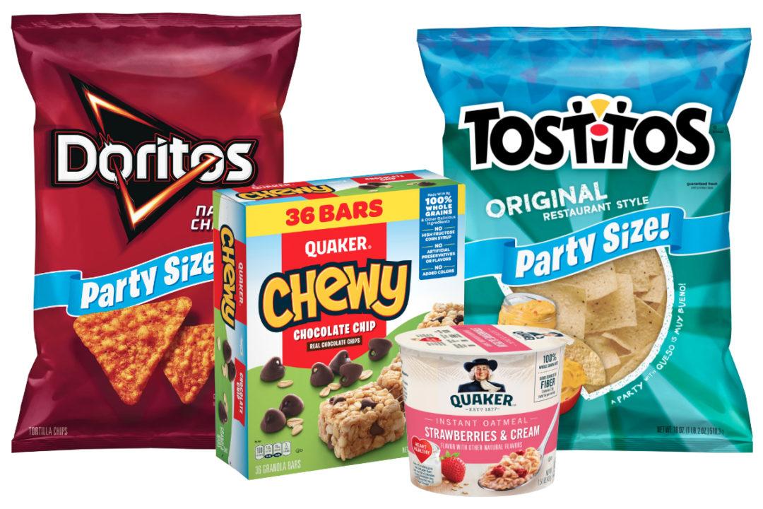 Frito-Lay and Quaker products