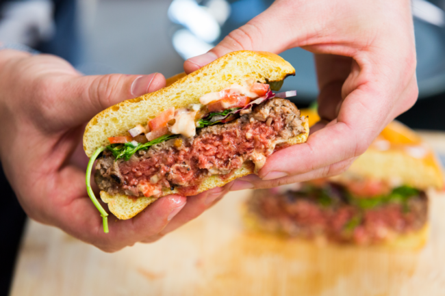 Impossible Foods plant-based burger