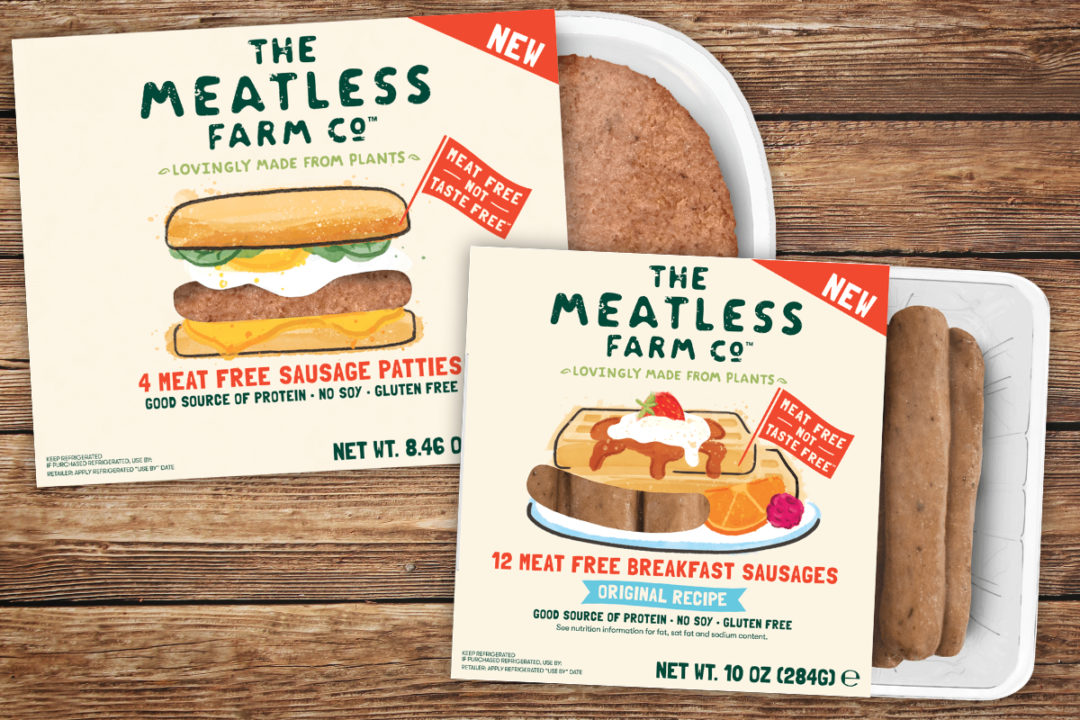 The Meatless Farm Co. plant-based breakfast sausage links and patties