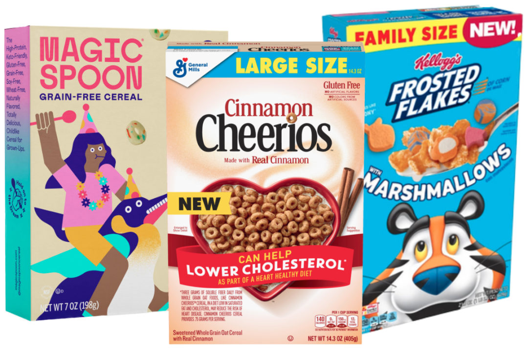 New cereals from General Mills, Kellogg and Magic Spoon