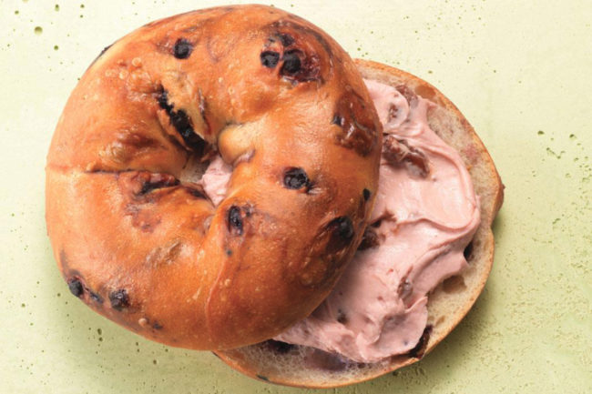 Panera blueberry bagel