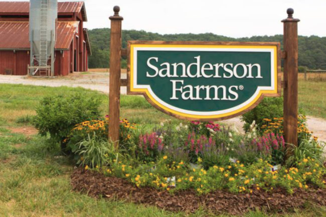 Sanderson Farms sign