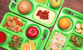 Schoollunchtrays lead