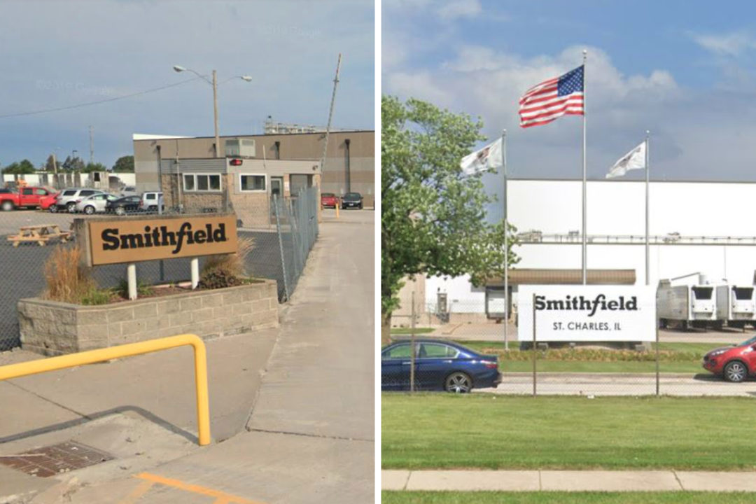 Smithfield Foods facilities in Montmouth and St. Charles, Illinois
