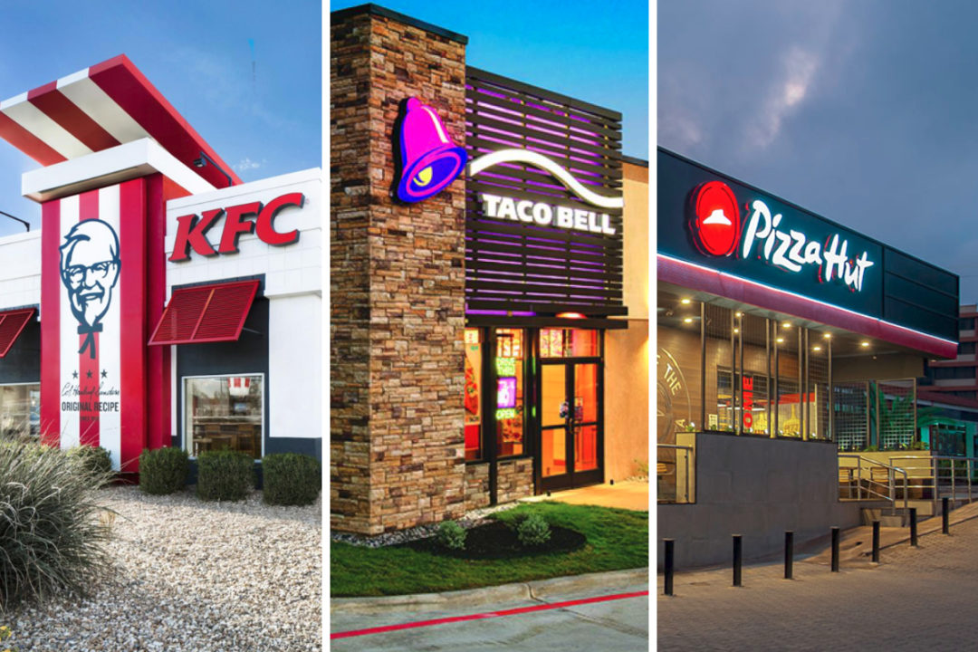 Yum! Brands restaurants: KFC, Taco Bell, Pizza Hut