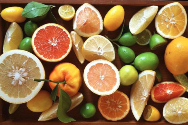 Citrus fruits tray