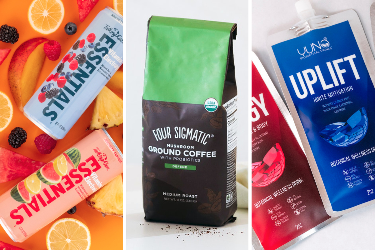 New functional beverages from Talking Rain, Four Sigmatic, YUNO