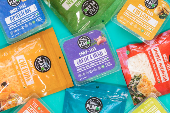 Good Planet Foods plant-based cheese products