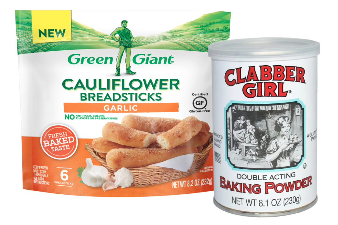 Green Giant and Clabber Girl products