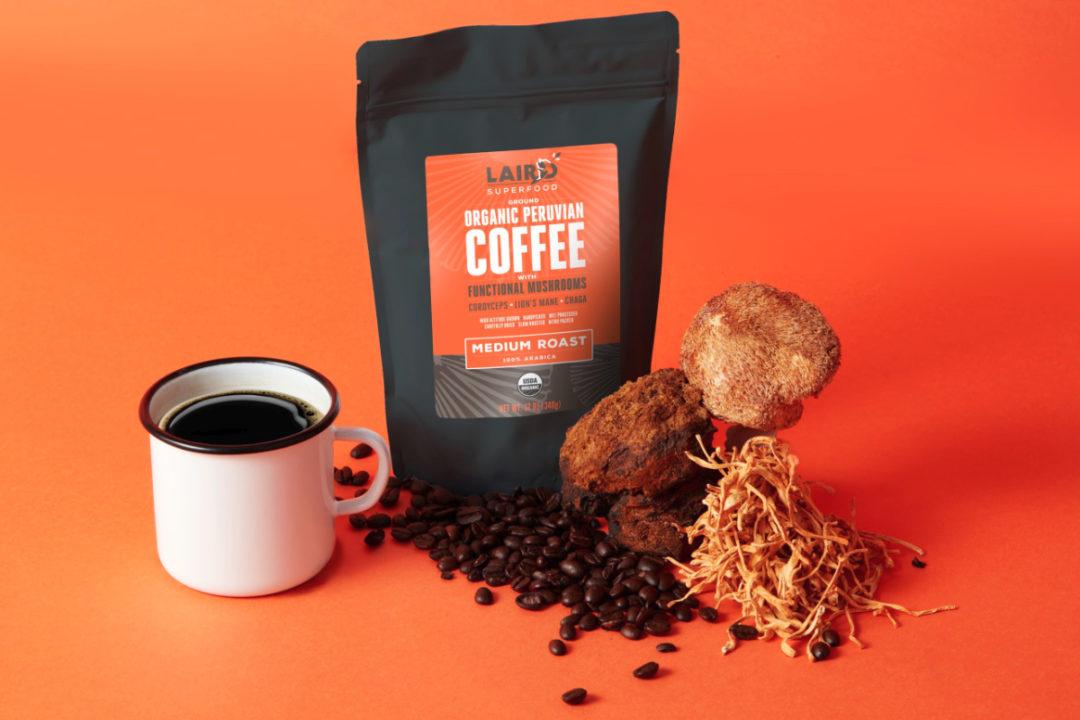 Laird Superfood organic ground Peruvian coffee with functional mushrooms