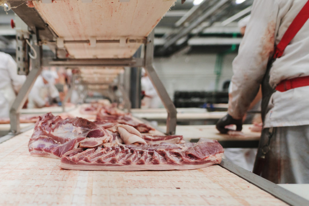 Meat production line