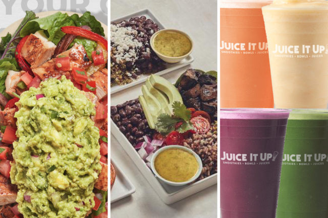 New menu items from Chipotle, Sweetgreen, Juice It Up!
