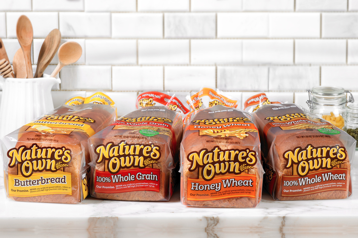 Nature's Own bread lineup