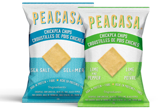 Peacasa chickpea chips