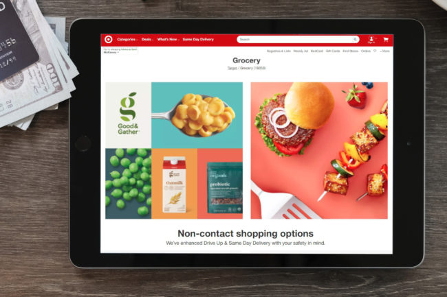 Target digital grocery shopping