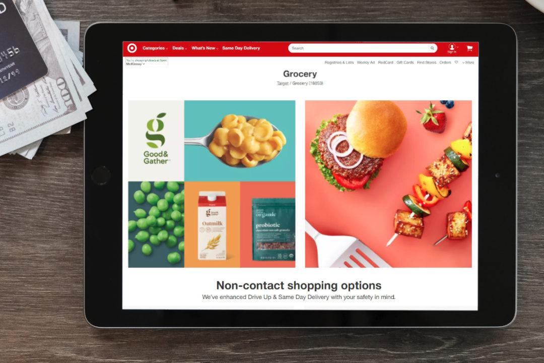 Target digital grocery shopping