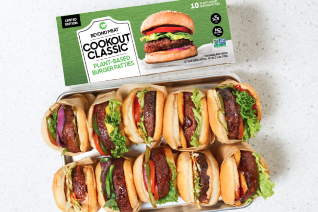 Beyond Meat Cookout Classic burger pack