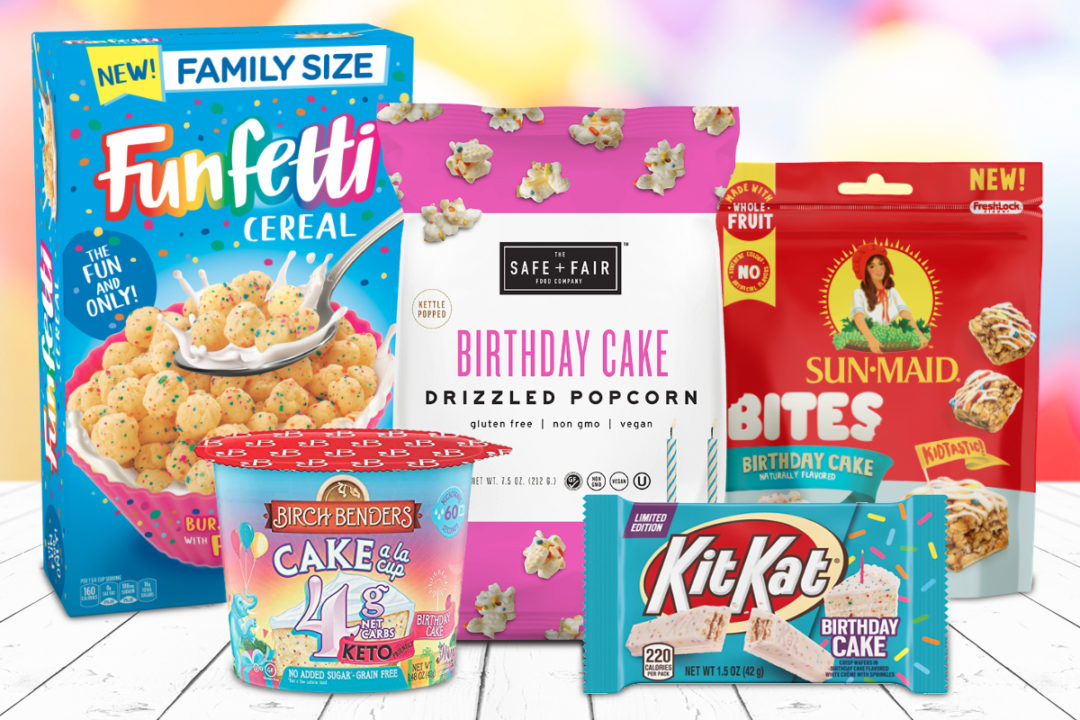 Birthday cake flavored products