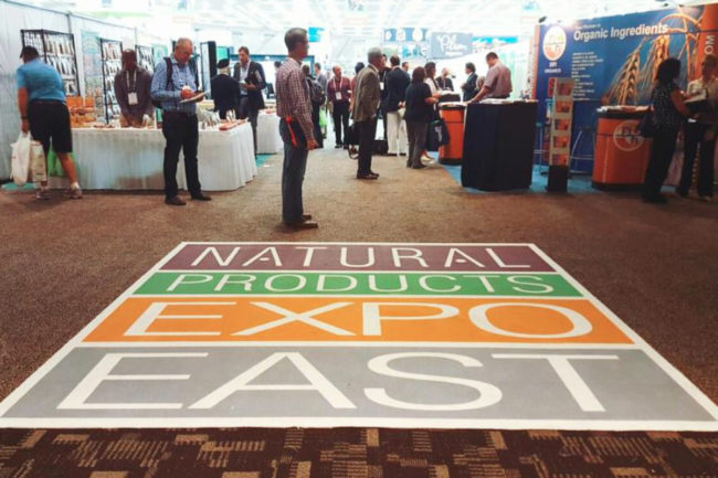 Natural Products Expo East show floor